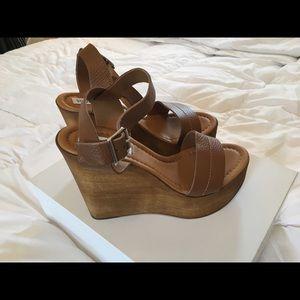 Steve Madden Belma Wedge Wooden Sandal